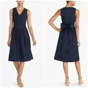 J. Crew Fit Flare Tie Back Wrap Top Shirt Dress